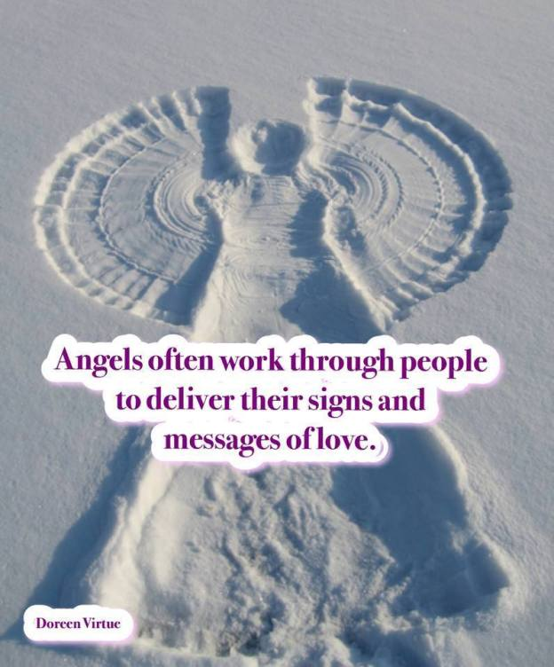 This is one way how angels work............